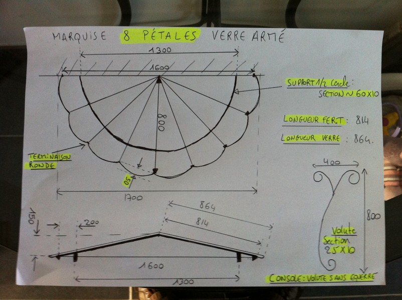 Realiser votre marquise envoyer vos croquis plan dessin for Model de marquise