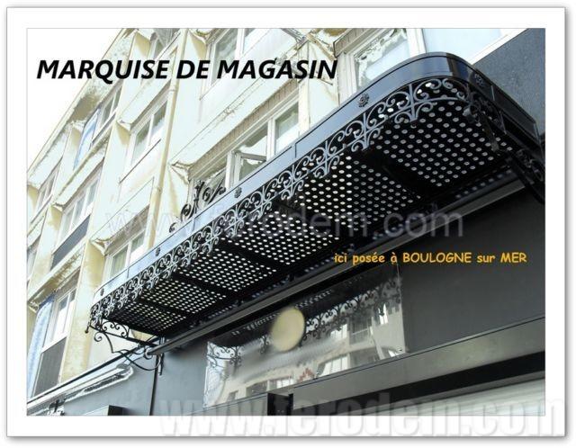 marquise devanture de magasin. Black Bedroom Furniture Sets. Home Design Ideas